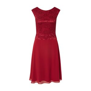 SWING Společenské šaty  bordó
