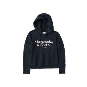 Abercrombie & Fitch Mikina 'HERITAGE'  námořnická modř / bílá