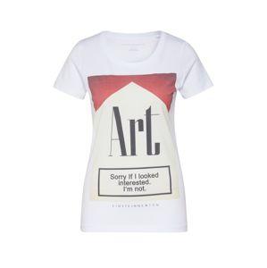 EINSTEIN & NEWTON Tričko 'Interested T-Shirt'  červená / bílá / režná