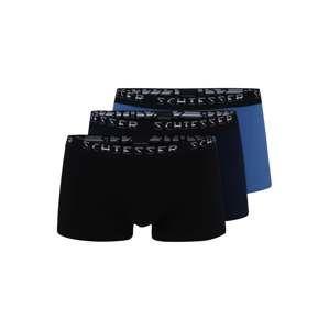 SCHIESSER Boxerky 'Hip-Shorts'  modrá / černá