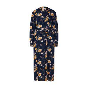 PIECES Košilové šaty 'PCJANINA MIDI DRESS'  noční modrá / žlutá