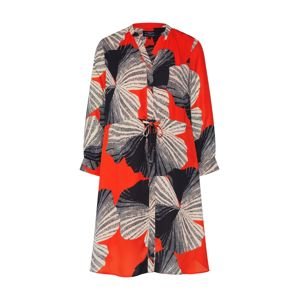 SELECTED FEMME Košilové šaty 'DAMINA'  béžová / oranžově červená / černá