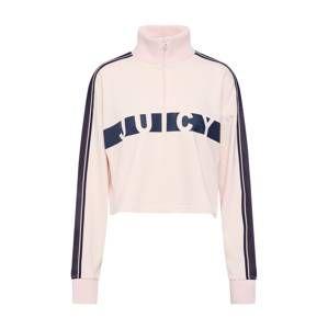 Juicy By Juicy Couture Mikina 'Racer Terry'  námořnická modř / růžová