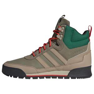 ADIDAS ORIGINALS Šněrovací boty  tmavě béžová / světle béžová / trávově zelená / červená