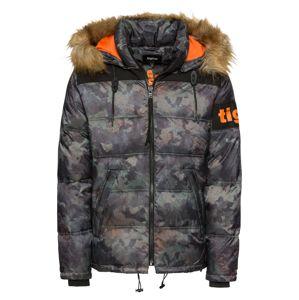 Tigha Zimní bunda 'Kleist'  tmavě šedá / zelená / černá