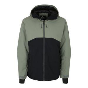 QUIKSILVER Sportovní bunda 'SIERRA'  zelená / černá