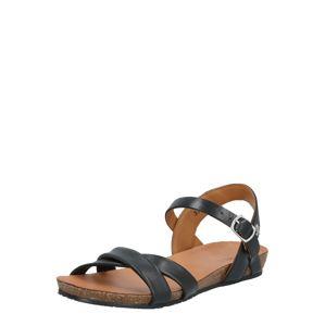 MEXX Páskové sandály 'Esperanza'  černá / hnědá