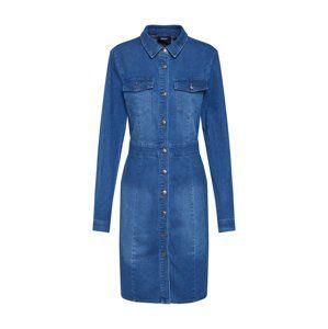 OBJECT Košilové šaty  modrá džínovina