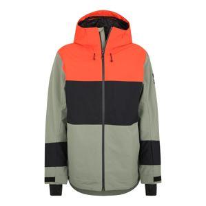 QUIKSILVER Sportovní bunda 'SYCAMORE'  zelená / oranžově červená / černá