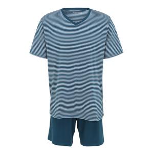 SCHIESSER Pyžamo krátké  pastelová modrá / bílá