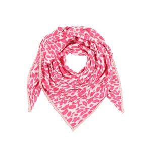 Zwillingsherz Látková rouška  pink / bílá