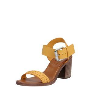 SHABBIES AMSTERDAM Páskové sandály 'Nappa'  žlutá