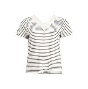 Vero Moda Curve Tričko 'HELA'  noční modrá / bílá