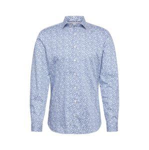 OLYMP Košile 'Level 5 Smart'  modrá / bílá