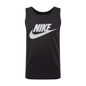 Nike Sportswear Tričko  světle šedá / černá