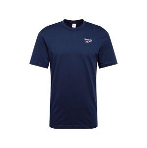 Reebok Classic Tričko  červená / tmavě modrá / bílá
