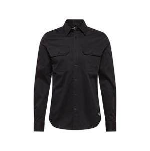 Calvin Klein Jeans Košile 'WESTERN STRETCH TWILL SLIM SHIRT'  černá