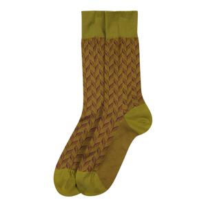 FALKE Ponožky 'Capital Rythm'  zelená / hnědá