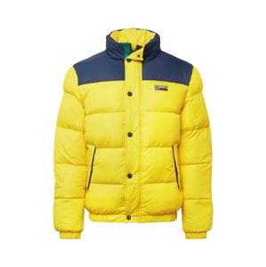 Tommy Jeans Zimní bunda  žlutá / modrá