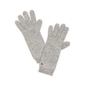 TOMMY HILFIGER Prstové rukavice 'FLAG KNIT GLOVES'  šedá