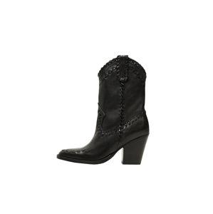 MANGO Kovbojské boty 'Taylor'  černá