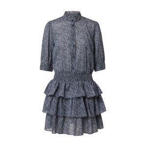 MICHAEL Michael Kors Košilové šaty 'BLOSSOM'  bílá / světlemodrá / noční modrá