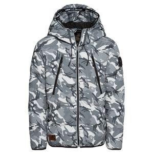 Khujo Zimní bunda 'ARTHUR'  šedá / bílá