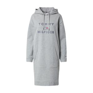 TOMMY HILFIGER Šaty  šedý melír / námořnická modř / červená / bílá