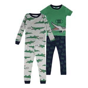 Carter's Pyžamo 'BSW 4PC COTTON BSW 4pc Gator WS'  modrá / šedá / zelená