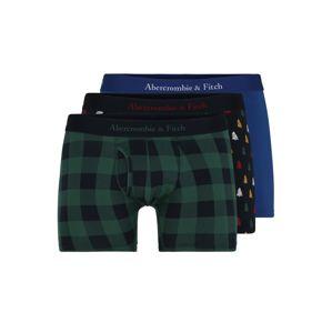 Abercrombie & Fitch Boxerky  modrá / zelená