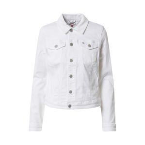 Tommy Jeans Přechodná bunda  bílá
