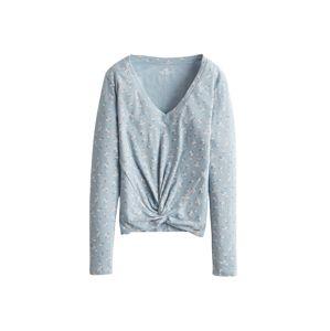 HOLLISTER Tričko 'LETTUCE'  bílá / námořnická modř