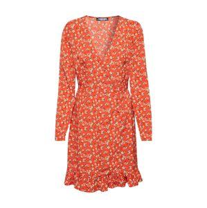 Fashion Union Šaty 'NATTIE'  oranžová / oranžově červená