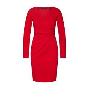 Dorothy Perkins Koktejlové šaty 'WRAP TOP BODYCON'  červená