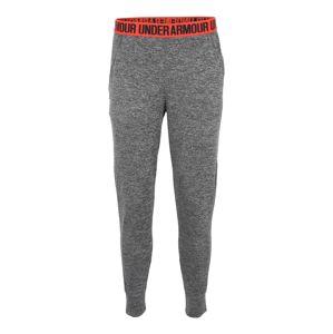 UNDER ARMOUR Sportovní kalhoty 'HeatGear Play Up Twist'  tmavě šedá / světle červená