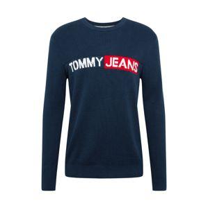 Tommy Jeans Svetr  červená / námořnická modř / bílá