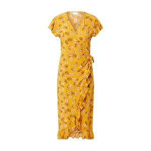 VILA Šaty 'Maskblini'  oranžově červená / žlutá