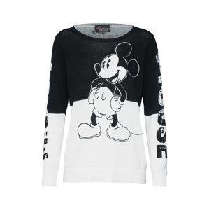 PRINCESS GOES HOLLYWOOD Svetr 'Mickey black printed'  černá / bílá