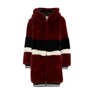 Khujo Přechodný kabát 'YELENA'  mix barev / vínově červená / černá