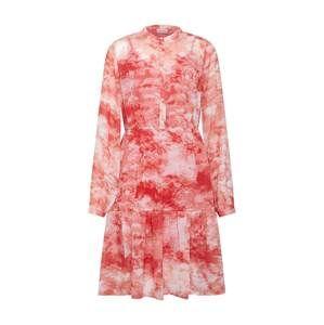 VILA Košilové šaty 'VITIEDYE L/S DRESS /RX'  červená / bílá