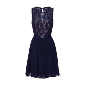 VM Vera Mont Koktejlové šaty  tmavě modrá / růže