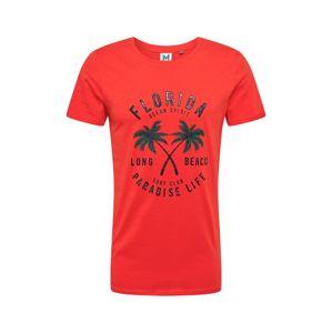 Hailys Men Tričko 'Marlon'  červená / námořnická modř / nefritová