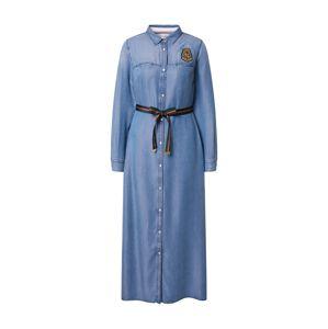 La Martina Košilové šaty  modrá
