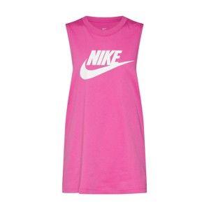 Nike Sportswear Top  pink / bílá