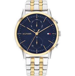 TOMMY HILFIGER Analogové hodinky  stříbrná / námořnická modř / růžově zlatá