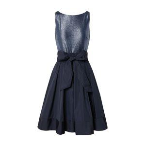Lauren Ralph Lauren Koktejlové šaty 'YUKO-SLEEVELESSCOCKTAIL DRESS'  námořnická modř / stříbrná