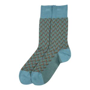FALKE Ponožky 'Capital Rythm'  aqua modrá / rezavě hnědá / tmavě zelená