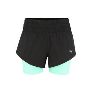 PUMA Kalhoty 'Last Lap 2in1'  světle zelená / černá