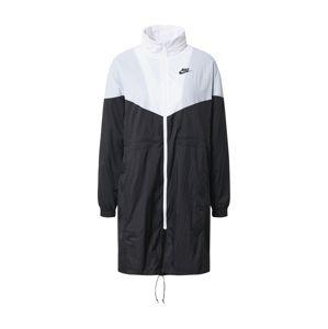Nike Sportswear Přechodová parka  černá / bílá