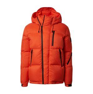 Calvin Klein Jeans Zimní bunda  oranžově červená